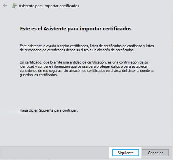 dnie electronico importar certificados chrome paso 3